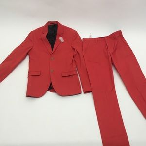 NWT RED TOPMAN BLAZER and SKINNY SUIT